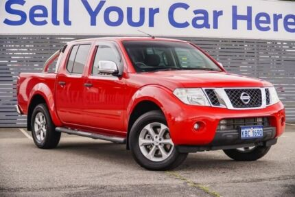 2014 Nissan Navara D40 S5 MY12 ST-X Red 7 Speed Sports Automatic Utility Maddington Gosnells Area Preview