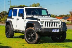 2016 Jeep Wrangler JK MY2016 Unlimited Sport White 5 Speed Automatic Softtop Wangara Wanneroo Area Preview