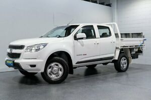2016 Holden Colorado RG MY16 LS (4x4) White 6 Speed Automatic Crew Cab Chassis Woodridge Logan Area Preview