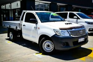 2015 Toyota Hilux KUN16R MY14 Workmate 4x2 White 5 Speed Manual Cab Chassis Myaree Melville Area Preview