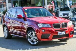 2014 BMW X3 F25 LCI MY0414 xDrive20d Steptronic Red 8 Speed Automatic Wagon