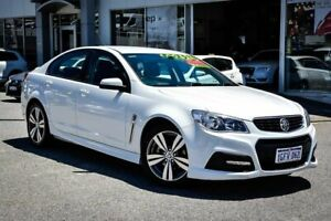 2015 Holden Commodore VF II MY16 SV6 White 6 Speed Sports Automatic Sedan