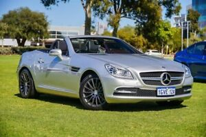 2012 Mercedes-Benz SLK-Class R172 SLK200 BlueEFFICIENCY 7G-TRONIC + Silver 7 Speed Sports Automatic Burswood Victoria Park Area Preview