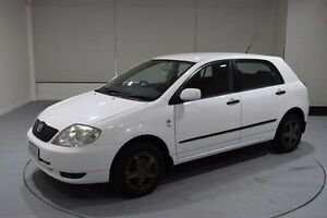 2003 Toyota Corolla ZZE122R Ascent White 5 Speed Manual Hatchback Invermay Launceston Area Preview