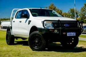 2014 Ford Ranger PX XL White 6 Speed Sports Automatic Cab Chassis Clarkson Wanneroo Area Preview