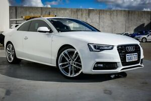 2015 Audi A5 8T MY16 S Tronic Quattro White 7 Speed Sports Automatic Dual Clutch Coupe Canning Vale Canning Area Preview