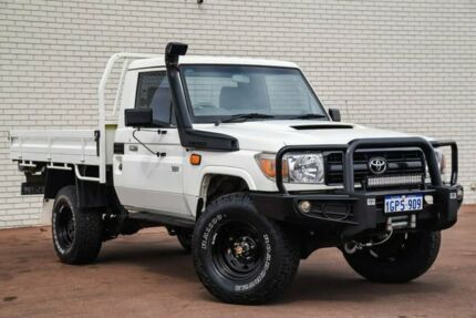 2015 Toyota Landcruiser VDJ79R Workmate White 5 Speed Manual Cab Chassis Morley Bayswater Area Preview