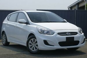 2015 Hyundai Accent RB2 MY15 Active White 4 Speed Sports Automatic Sedan