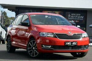 2018 Skoda Rapid NH MY18.5 Spaceback DSG Red 7 Speed Sports Automatic Dual Clutch Hatchback Nunawading Whitehorse Area Preview