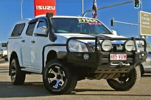 2012 Isuzu D-MAX MY12 SX Crew Cab White 5 Speed Manual Utility Gympie Gympie Area Preview