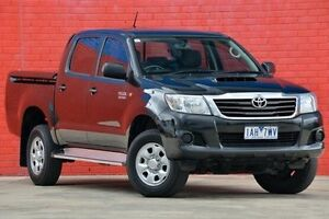 2013 Toyota Hilux KUN26R MY12 SR Double Cab Black 4 Speed Automatic Utility Pakenham Cardinia Area Preview