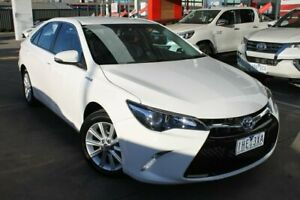 2016 Toyota Camry AVV50R Atara S White 1 Speed Constant Variable Sedan Hybrid Hoppers Crossing Wyndham Area Preview