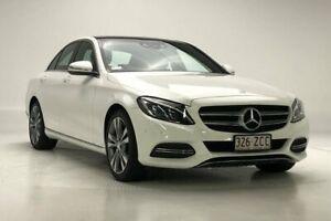 2014 Mercedes-Benz C-Class W205 C200 7G-Tronic + White 7 Speed Sports Automatic Sedan