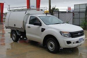 2012 Ford Ranger PX XL 4x2 White 6 Speed Manual Cab Chassis Kenwick Gosnells Area Preview