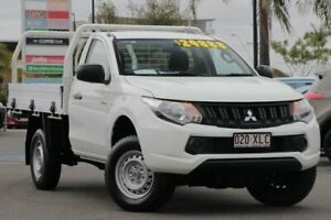 2017 Mitsubishi Triton MQ MY17 GLX 4x2 White 6 Speed Manual Cab Chassis Upper Mount Gravatt Brisbane South East Preview