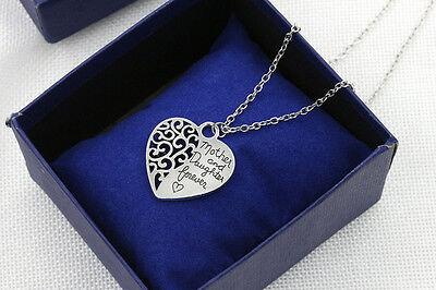 Halskette Herz Mutter & Tochter für immer – Partnerschmuck Liebe Freundschaft ()
