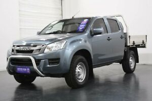 2016 Isuzu D-MAX TF MY15.5 SX (4x4) Grey 5 Speed Automatic Crew Cab Chassis Oakleigh Monash Area Preview