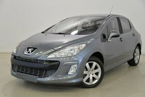 2008 Peugeot 308 T7 XSE Turbo Grey 5 Speed Manual Hatchback Mansfield Brisbane South East Preview