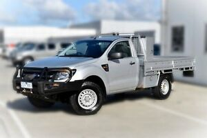 2012 Ford Ranger PX XL Silver 6 Speed Manual Cab Chassis Pakenham Cardinia Area Preview
