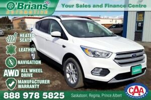 2018 Ford Escape SEL w/4WD, Nav, Leather, EcoBoost