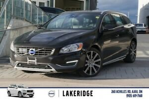 2015 Volvo V60 T6 Platinum. LTHR, MOONROOF, NAV, ALLOYS