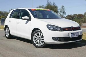 2010 Volkswagen Golf VI MY11 103TDI DSG Comfortline White 6 Speed Sports Automatic Dual Clutch