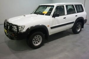 2003 Nissan Patrol GU III MY2003 DX White 4 Speed Automatic Wagon Old Guildford Fairfield Area Preview
