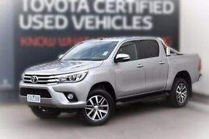 2015 Toyota Hilux GUN126R SR5 Double Cab Silver 6 Speed Sports Automatic Utility Berwick Casey Area Preview