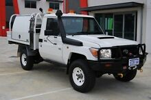 2013 Toyota Landcruiser VDJ79R MY13 Workmate White 5 Speed Manual Cab Chassis Kenwick Gosnells Area Preview