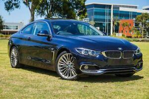 2019 BMW 4 Series F32 LCI 430i Luxury Line Blue 8 Speed Sports Automatic Coupe