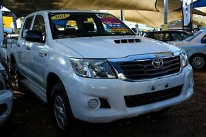 2011 Toyota Hilux KUN26R MY12 SR Double Cab White 4 Speed Automatic Utility Minchinbury Blacktown Area Preview