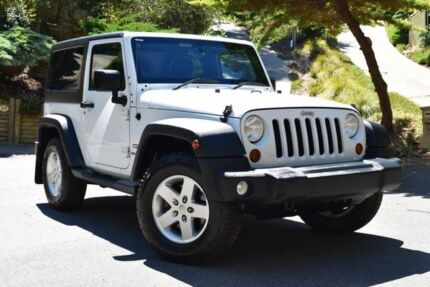 2013 Jeep Wrangler JK MY2013 Sport White 6 Speed Manual Softtop St Marys Mitcham Area Preview