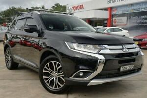 2016 Mitsubishi Outlander ZK MY16 Exceed (4x4) Black 6 Speed Automatic Wagon