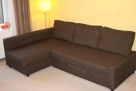 Bargain! ikea friheten corner sofa bed with storage local delivery