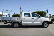 2011 Toyota Hilux TGN16R MY12 Workmate Double Cab 4x2 Glacier White 5 Speed Manual Utility Osborne Park Stirling Area Preview