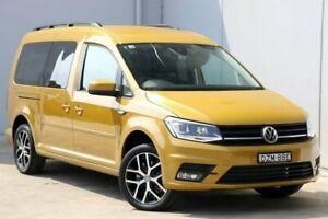2018 Volkswagen Caddy 2K MY19 TSI220 LWB DSG Beach Sandstorm Yellow 7 Speed