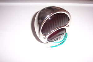 1928-31 Ford model A tail light, glass lens & stainless housing 6 or 12 volt,new