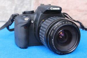 Digital SLR CAMERA Canon Rebel XT EOS 350D w/ 35-80 lens and acc