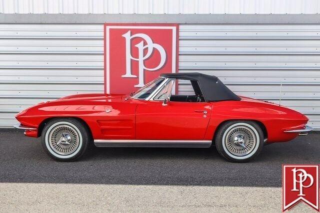 1964 Red Chevrolet Corvette Convertible    C2 Corvette Photo 3