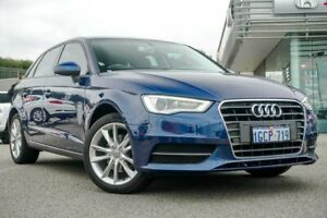 2015 Audi A3 8V MY15 Attraction Sportback S Tronic Blue Sports Automatic Dual Clutch Hatchback Wangara Wanneroo Area Preview