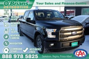 2015 Ford F-150 Lariat - Accident Free w/Power Tailgate, Command