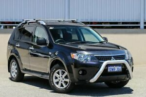 2009 Mitsubishi Outlander ZG MY09 Activ (5 Seat) Black 6 Speed CVT Auto Sequential Wagon