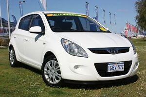 2011 Hyundai i20 PB MY11 Active White 4 Speed Automatic Hatchback Wangara Wanneroo Area Preview