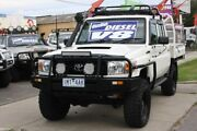 2014 Toyota Landcruiser VDJ79R MY13 Workmate Double Cab White 5 Speed Manual Cab Chassis Altona North Hobsons Bay Area Preview