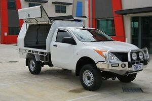 2012 Mazda BT-50 UP0YF1 XT White 6 Speed Manual Cab Chassis Kenwick Gosnells Area Preview