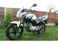YAMAHA YBR 125cc Motorcycle (2015) Very Low Mileage, kept dry stored.