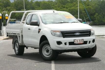 2013 Ford Ranger PX XL Super Cab 4x2 Hi-Rider White 6 Speed Sports Automatic Cab Chassis