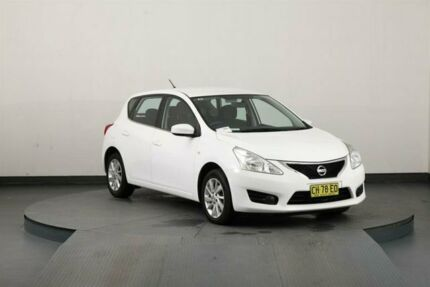 2015 Nissan Pulsar C12 ST White Continuous Variable Hatchback Smithfield Parramatta Area Preview