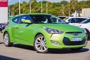 2013 Hyundai Veloster FS2 + Coupe D-CT Green 6 Speed Sports Automatic Dual Clutch Hatchback Myaree Melville Area Preview