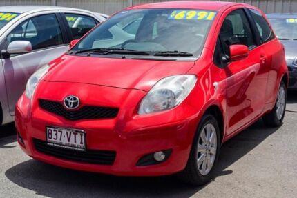2009 Toyota Yaris NCP90R MY09 Edge Red 5 Speed Manual Hatchback